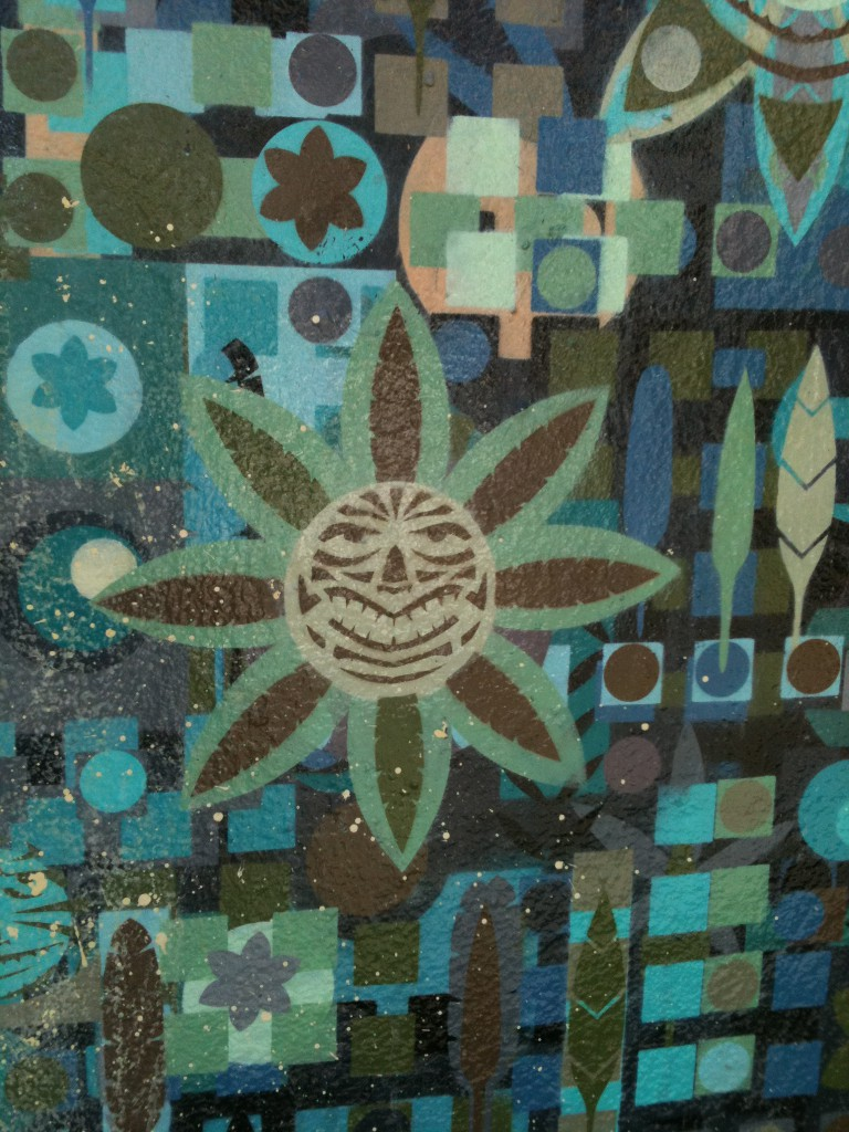 graffiti from Haight Street -- big-smiling sun!