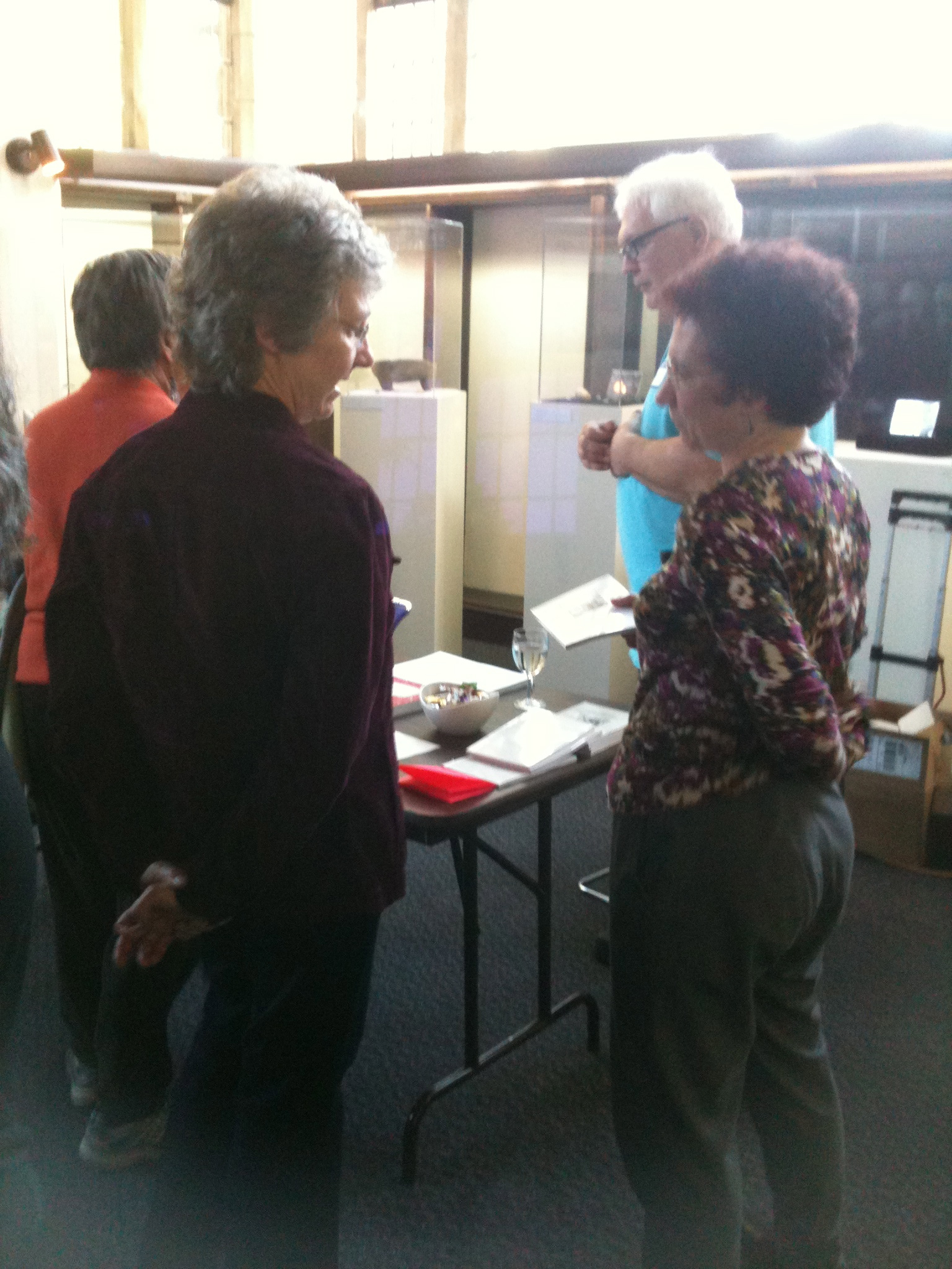 Jan Haag and John Crandall (Jan is talking with Marion, a facilitator from Amherst)